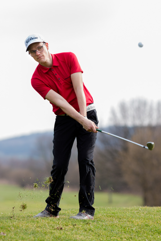 Golfer Benno Rudel in Dresden Ullersdorf