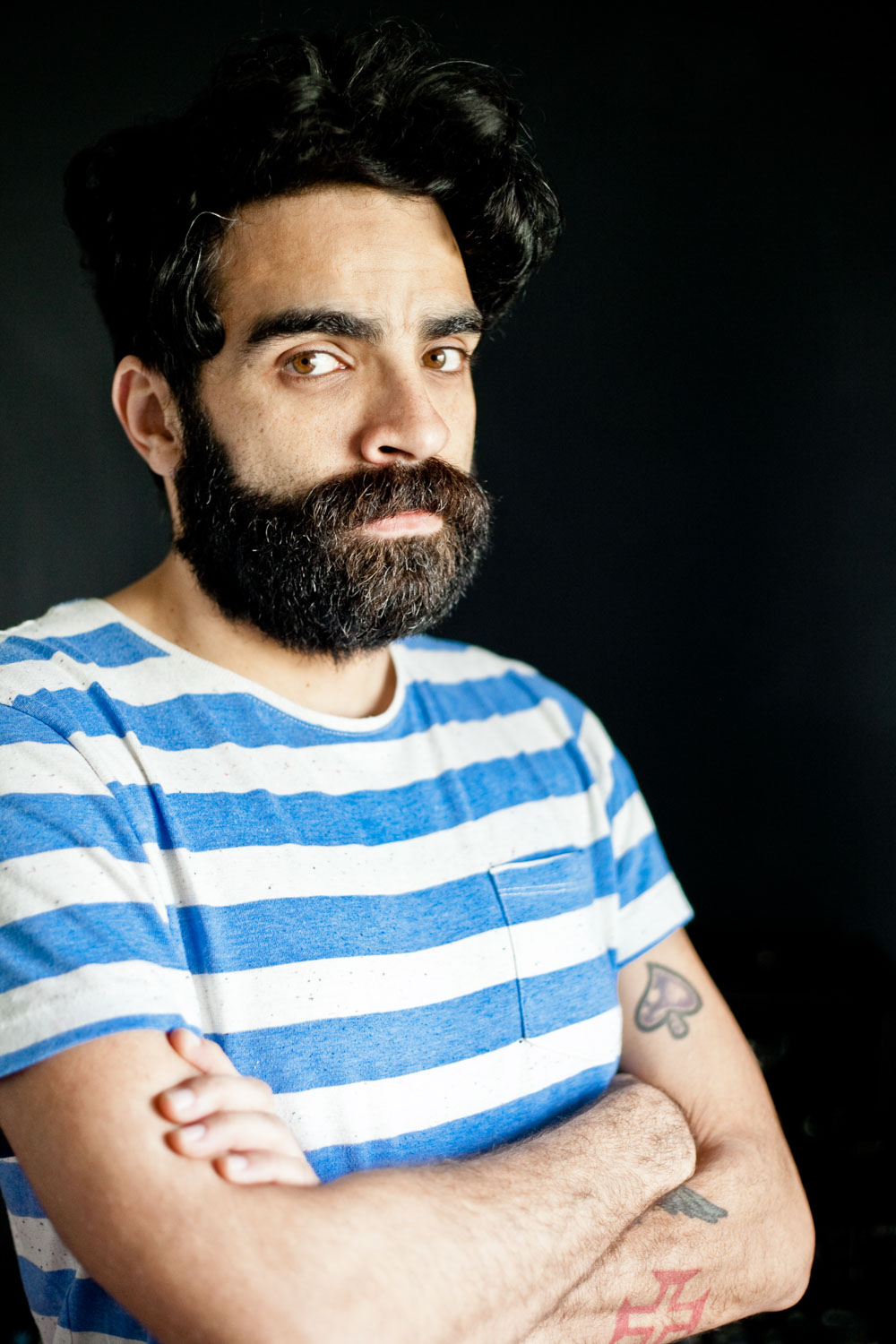 artist portrait of Ben Monteiro from the band D`Alva in Lisboa