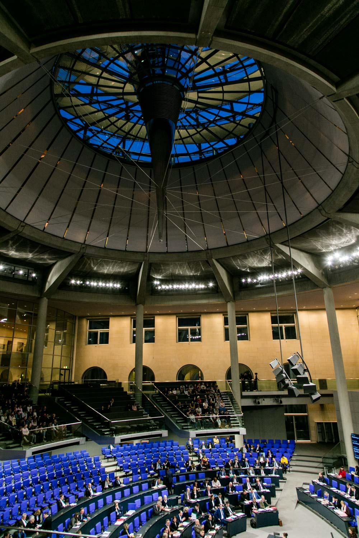 Plenarsaal im Reichstag Bundestag Berlin