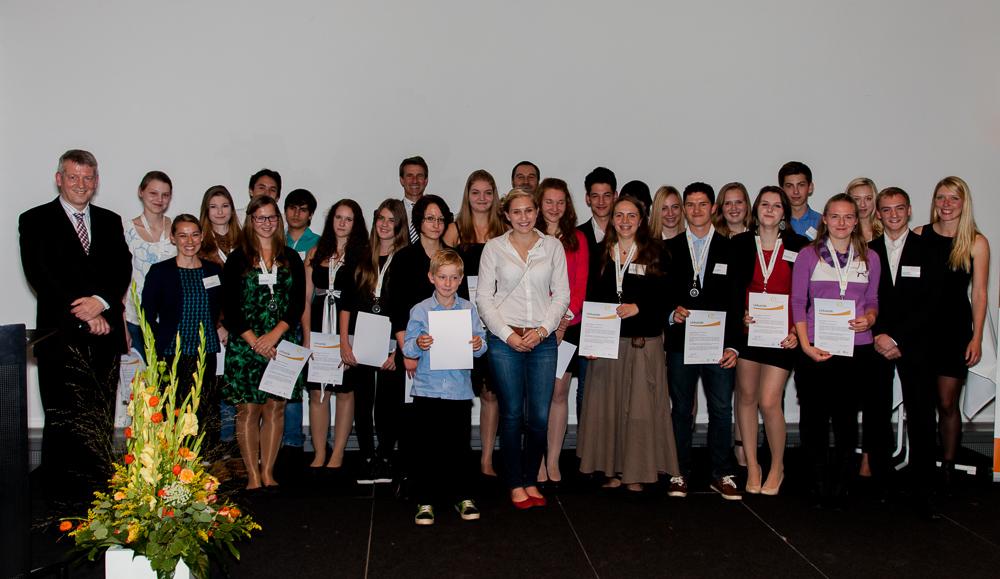 Gruppenbild bei einer Veranstaltung der Stiftung deutsche Wirtschaft in Dresden