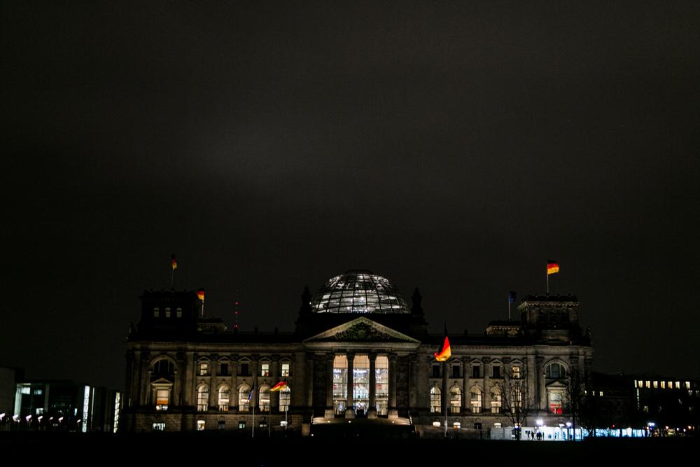 Reichstag fotografiert von Fotograf im Bundestag