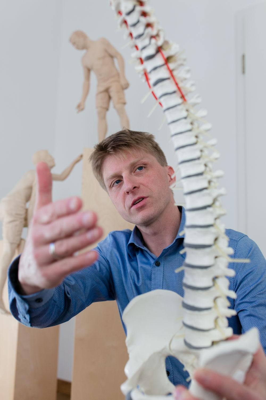Dr. Lars Stephan in Dresden bei der Arbeit